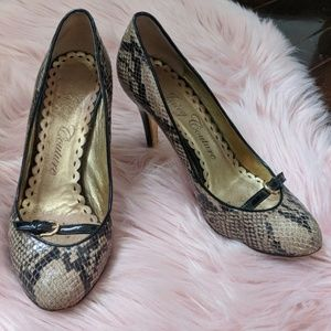 Juicy Couture snakeskin pumps size 8